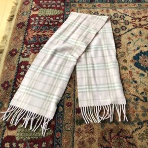 Burberry scarf, pink/ grey check, cashmere/wool